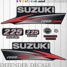 Suzuki 225 hp Four Stroke outboard engine decal sticker set kit reproduction