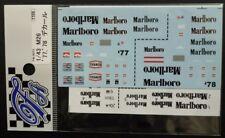 DECALS F'ARTEFICE FM-0073 1/43 FOR MCLAREN M26 1977 - 1978 TOBACCO CONVESION