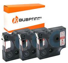 5 Printer Schriftbänder für Dymo 45010 Schwarz auf Transparent-Drucker Pro Serie