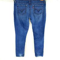 Levi's 524 TOO SUPER LOW Women's Jeans Sz 15 Skinny Leg Dark Wash Juniors