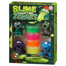 Slime Squirting Zombies Includes 4 Pots Of Gooey Slime & 4 Different Zombies