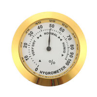 GOLD Color Smoking Tobacco Hygrometer Round Humidifier for Cigar Humidor