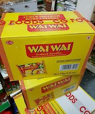 Wai Wai Instant Noodles, Chicken Flavored, 75g Packages (3 x Box of 30) P&P UK