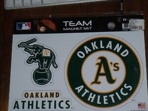 MLB OAKLAND A's Team Magnet Set by Rico Industries