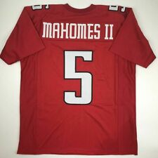 New Patrick Mahomes Ii Texas Tech Red Custom Stitched College Football Jersey Xl