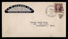 DR WHO 1937 DULUTH & ? RPO ADVERTISING FARM EQUIPMENT TO MINNEAPOLIS MN f71871