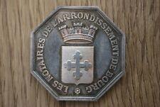 Jeton Notaires Notaire de Bourg Corne 1argent 1907