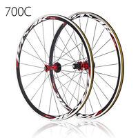 700C Ultra Light Road Bicycle Wheel Front Rear Wheelset 1690g 30mm Rim Freewheel