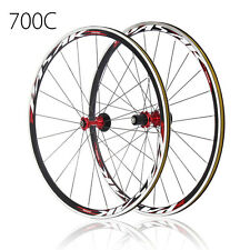700C Ultra Light Road Bicycle Wheel Front Rear Wheelset 1690g 30mm Rim Freewheel