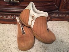 Tan  Suede B BOOTS By Buffalino size 12 USA FREE SHIPPING