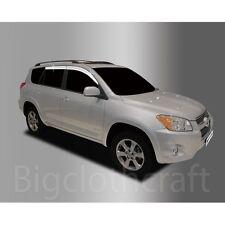 New Chrome Side Window Vent Visors Rain Guards for Toyota RAV4 2006 - 2012