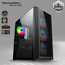 Tecware Vega L, Dual Tempered Glass ATX Gaming PC Computer Case w/ 4 RGB Fans