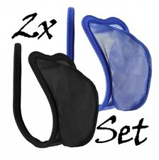 2er Set C-String Black Thong Blue Transparent Men's Net Lingerie Panty S/M/L