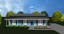 House Plans for 1360 Sq. Ft. 3 Bedroom House