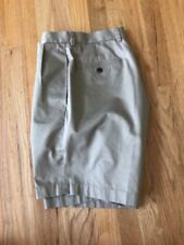 "Men's Brooks Brothers Beige Shorts ""346"" Lightweight Advantage Chino W33 Size 33"