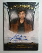 New Listing2019 Topps Star Wars Masterwork Alden Ehreneich Han Solo Autograph 16/25