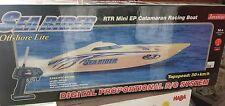Catamarano barca racing boat NUOVO velocità 30km/h acqua radiocomando rtr mini