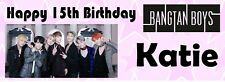 BTS PERSONALISED Birthday Banner - pack of 2 - Add Name and Age KPop Bangtan