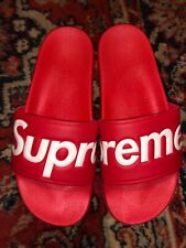 Supreme Slides Black and Red Sizes 9&10 New
