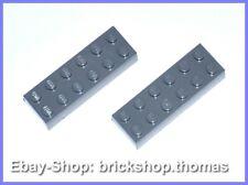 Lego 2 x Basic Steine grau (6 x 2) - 2456 - Brick Dark Bluish Gray - NEU / NEW