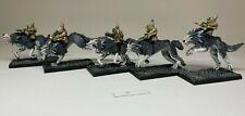 Warhammer Orcs and Goblins - Goblin Wolf Riders Archers x 5 - Custom Built
