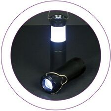 2 in 1 Camping Torch/ Lantern. Hang by Metal Hoop.