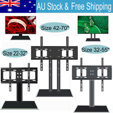 "22-70"" Adjustable Table Desktop TV Mount Stand Bracket Monitor LCD LED Plasma"
