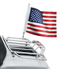 US-STOCK Motorcycle Bike American USA Flag Pole Luggage Rack Mount for Harley
