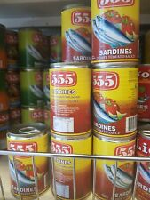 6x  555 Sardines in Hot Tomato Sauce - 155g