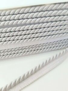 """GB523 Silver Metallic Cord Upholstery Sewing Trim 0.375/"""""""