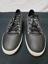 NIB Converse Black Leather All Star unisex  Mens- 11 Womans- 12.5 Sideways OX