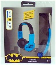 NEW DC Batman Blue Kid Safe Headphones With Volume Limiting Technology Ages 6+