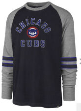 Men's Chicago Cubs 47 Brand Long-sleeves Heritage Raglan Size 2XL Fall Navy NWT