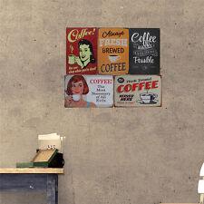 New Retro Metal Tin Signs Coffee Plaque Poster Bar Pub Club Cafe Home Wall Decor