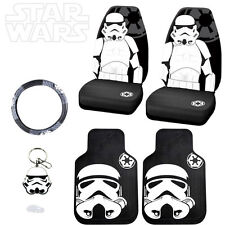 6PC STAR WARS STORMTROOPER CAR SEAT COVERS MATS AND ACCESORIES SET FOR NISSAN