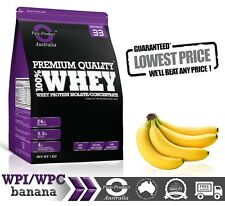 5KG BANANA WHEY PROTEIN ISOLATE / CONCENTRATE -  WPI WPC POWDER