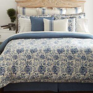 "NEW Ralph Lauren Home Bluff Point 20"" x 20"" Square Decorative Pillow BLUE E787"
