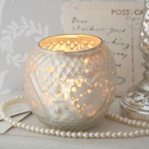 Lustre Tea Light Holder - Silver Pearl