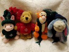 Boyds Bears Disney Winnie The Pooh Plush Ornaments New w/o Tags Set of 4