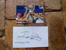 DANIELA HANTUCHOVA HAND SIGNED TENNIS COVERWITH HOPMAN  CUP 6X4 TENNIS PHOTO