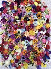 50x Small Artificial Flower Heads Joblot Fake Silk Craft Wedding Flowers Sewing