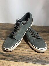 Vans Green  Brown Suede Leather Athletic Skate Sneakers Men's Size 11 Shoes N4
