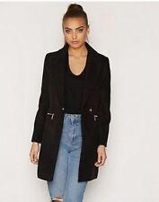 Topshop Black Slim Zip Pocket Biker Meg Boyfriend Crombie Jacket Coat 4 - 16 New