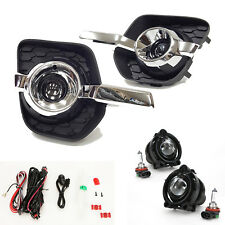 Projector Front Fog Light Kit For 2010-2016 Chevy Equinox Clear Bezel Wire Bulbs