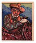 Vintage 1949 Bowman Wild West Series Card H 10 Raymond Hatton T247