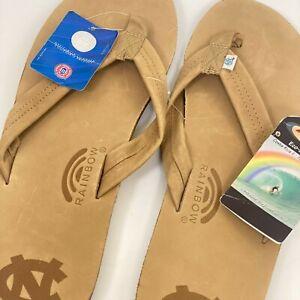 Rainbow UNC-Chapel Hill Premium Leather Sandals US Men's XXXL 13.5-15   #301UNCH