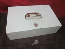 Buddy Products 521 Gray Metal Locking Cash Box W Coin Tray Amp Key