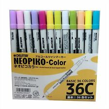 NEW Deleter Marker Sketch Pen NEOPIKO 36 Colors C set Manga Anime copic Japan