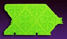 Damask Pattern Onlay Silicone Mold by Marvelous Molds #MMO-13 Gum Paste Mold