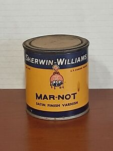Vintage Sherwin-Williams Mar-not Satin Finish Varnish Rare Painting Supplies